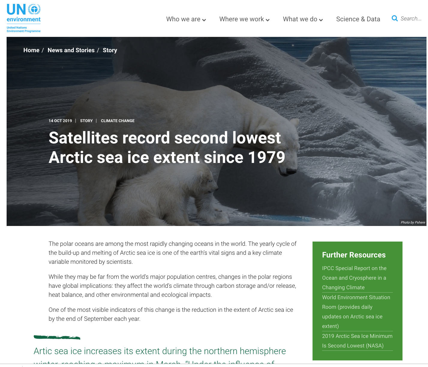 GRID-Geneva's work on Arctic Sea Ice confirm climate emergency. See GRID-Geneva's explanation on UN Environment Programme's dedicated page