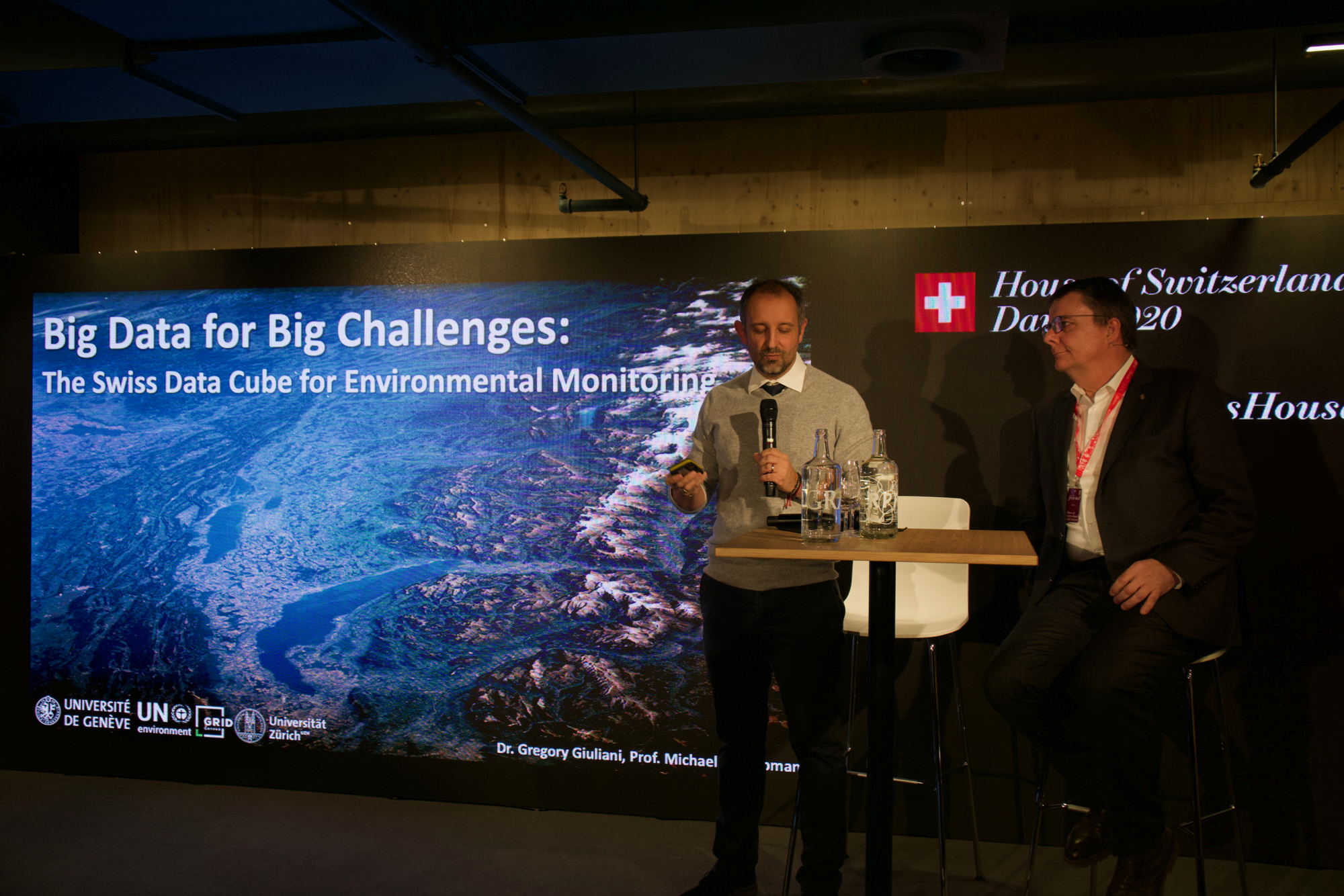 UNEP/GRID-Geneva at the World Economic Forum in Davos - BIG DATA for BIG Challenges: The Swiss Data Cube for Environmental Monitoring